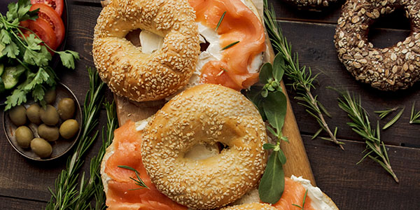 Lox Bagels at Jane's Cafe Mission Valley