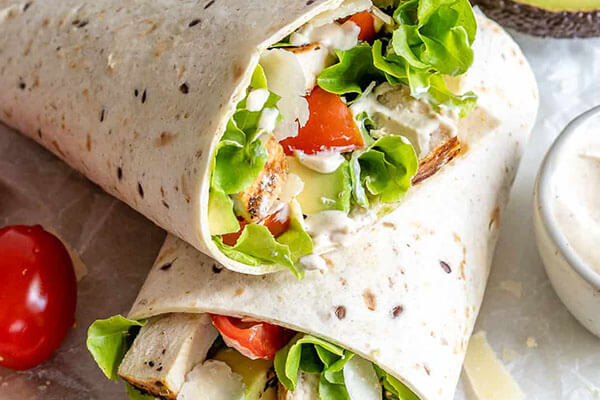Sandwiches To Eat For Lunch Chicken Caesar Wrap
