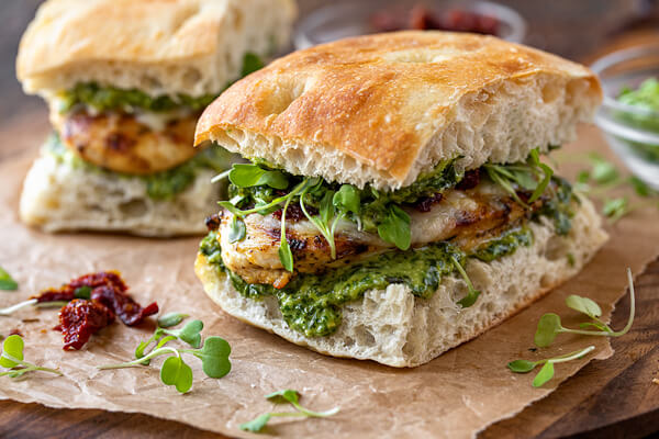 Sandwiches To Eat For Lunch Chicken Pesto Panini